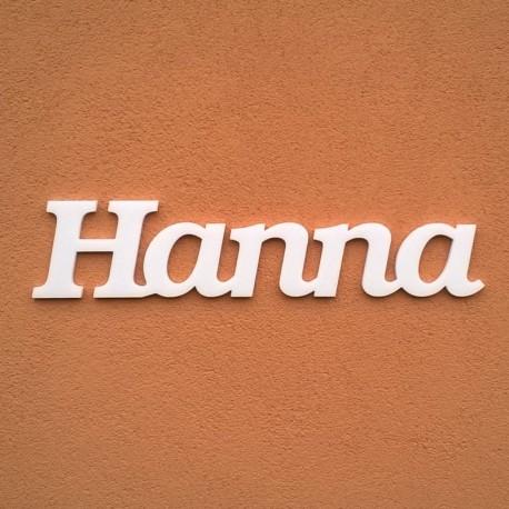 Hanna név felirat ajtóra vagy a gyermekszoba falára!