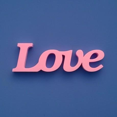 Rózsaszínű XPS anyagból készült festhető Love felirat