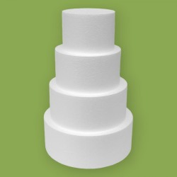 Négy emeletes korong alakú hungarocell gyakorló torta