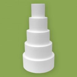 Öt emeletes korong alakú hungarocell gyakorló torta