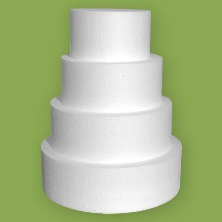 Négy emeletes korong alakú hungarocell gyakorló torta 32 cm magassággal