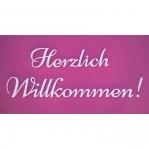 Herzlich Willkommen felirat faldekorációs célra