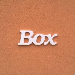 Box felirat faldekorációs célra