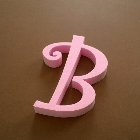"""""""B"""" dekorációs betű a TWISTY termékcsaládból."""