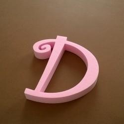 """""""D"""" dekorációs betű a TWISTY termékcsaládból."""
