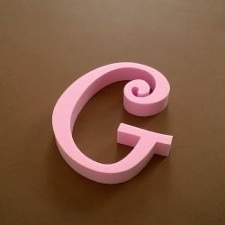 """""""G"""" dekorációs betű a TWISTY termékcsaládból."""