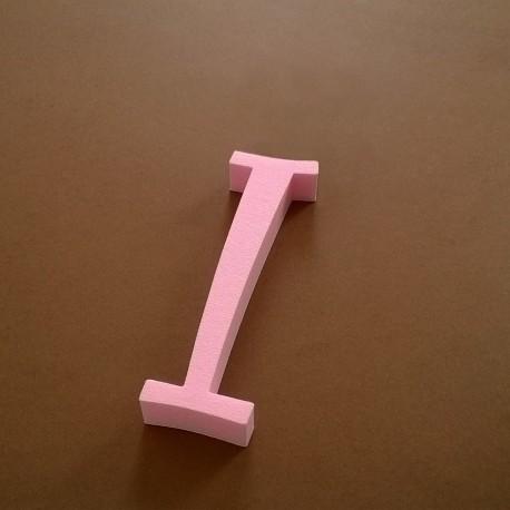 """""""I"""" dekorációs betű a TWISTY termékcsaládból."""