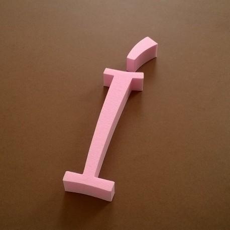 """""""Í"""" dekorációs betű a TWISTY termékcsaládból."""