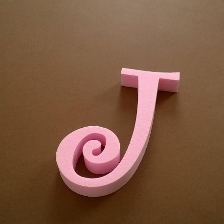 """""""J"""" dekorációs betű a TWISTY termékcsaládból."""