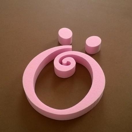 """""""Ö"""" dekorációs betű a TWISTY termékcsaládból."""
