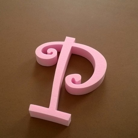 """""""P"""" dekorációs betű a TWISTY termékcsaládból."""