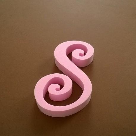 """""""S"""" dekorációs betű a TWISTY termékcsaládból."""