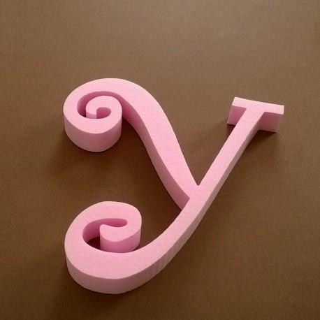 """""""Y"""" dekorációs betű a TWISTY termékcsaládból."""