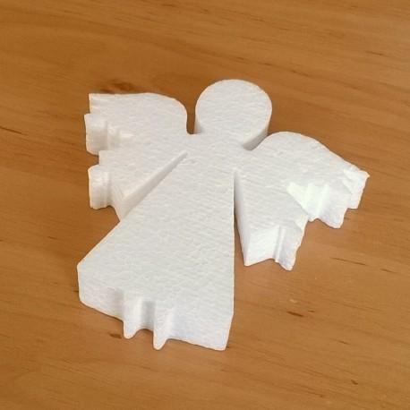 Angyal alakú hungarocell anyagból készült karácsonyfadísz.