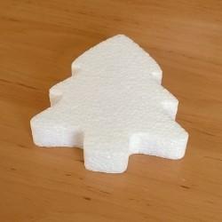 Fenyőfa alakú hungarocell anyagból készült karácsonyfadísz.