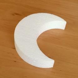 Hold alakú hungarocell anyagból készült karácsonyfadísz.