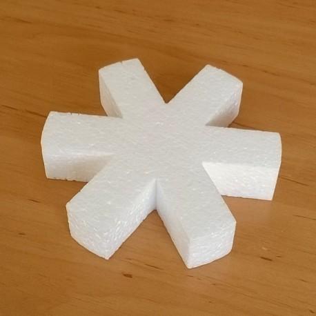 Hópehely alakú hungarocell anyagú készült karácsonyfadísz.