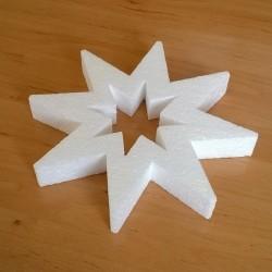 Lyukas csillag alakú hungarocell karácsonyfadísz.