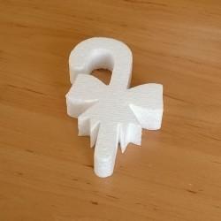 Masnis nyalóka alakú hungarocell anyagú karácsonyfadísz.