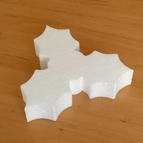 Fagyöngy alakú hungarocell anyagból készült karácsonyfadísz