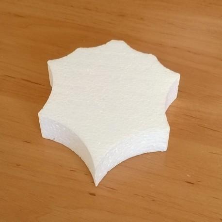Falevél alakú hungarocell anyagból készült karácsonyfadísz.