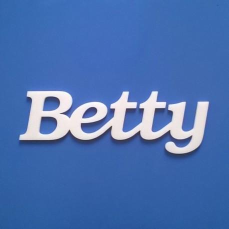 Betty név felirat ajtóra vagy a gyermekszoba falára!