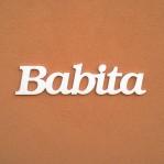 Babita név felirat ajtóra vagy a gyermekszoba falára!
