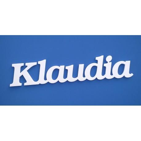 Klaudia név felirat ajtóra vagy a gyermekszoba falára!