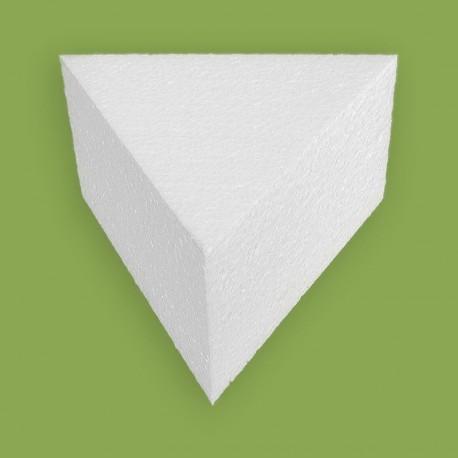 Polisztirol anyagból készült háromszög alapú forma