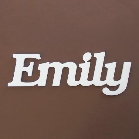 Emily név felirat ajtóra vagy a gyermekszoba falára!
