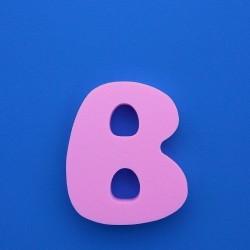 """""""B"""" dekorációs betű a SUZY termékcsaládból."""