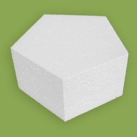 Polisztirol anyagból készült ötszög alapú forma
