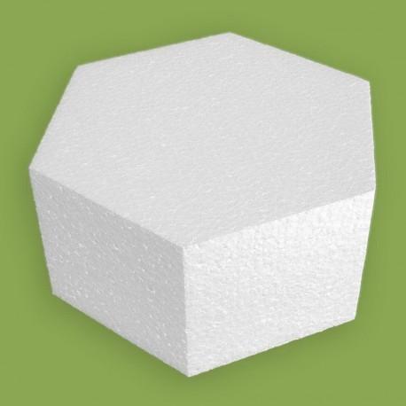 Polisztirol anyagból készült hatszög alapú forma