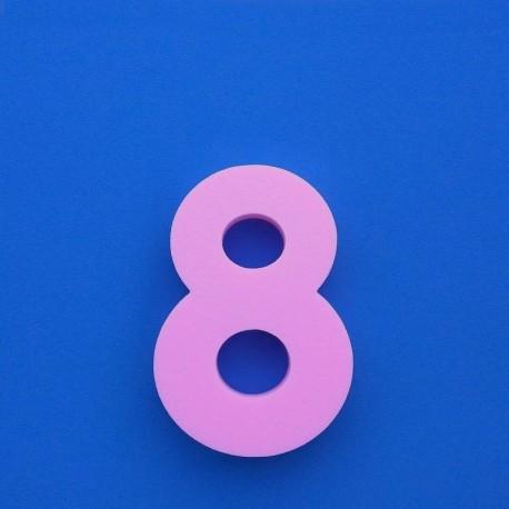 """""""8"""" dekorációs számjegy a SUZY termékcsaládból."""