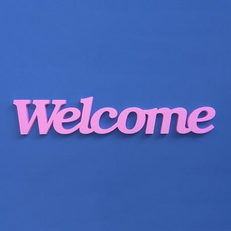 Welcome felirat XPS anyagból otthonra.
