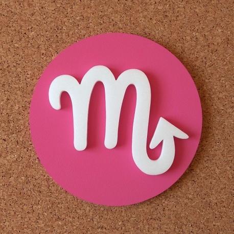 Falra ragasztható dekoratív Skorpió csillagjegy, rózsaszín alapszínnel!