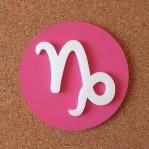 Falra ragasztható dekoratív Bak csillagjegy, rózsaszín alapszínnel!