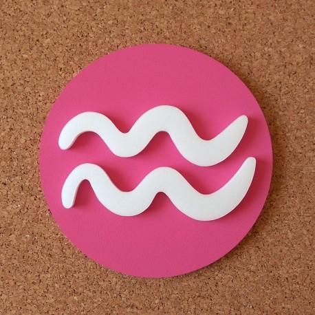 Falra ragasztható dekoratív Vízöntő csillagjegy, rózsaszín alapszínnel!