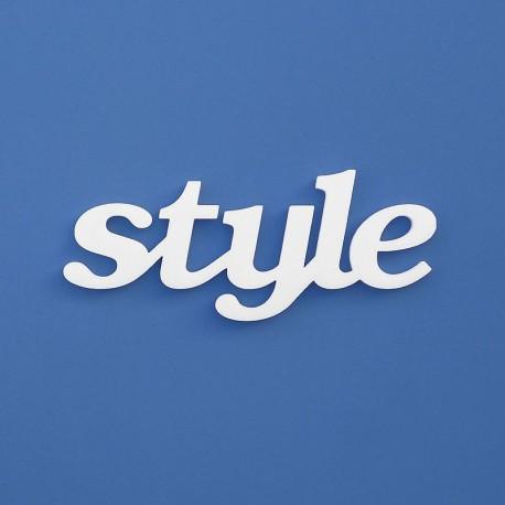 style felirat faldekorációs célra