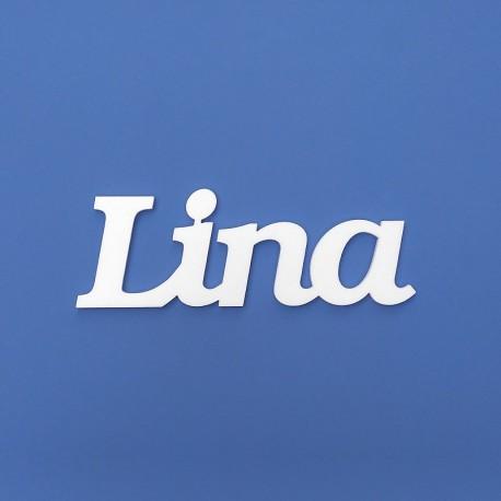Lina név felirat ajtóra vagy a gyermekszoba falára!