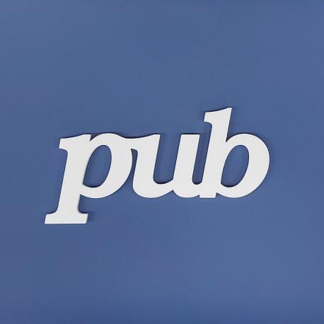 pub felirat faldekorációs célra