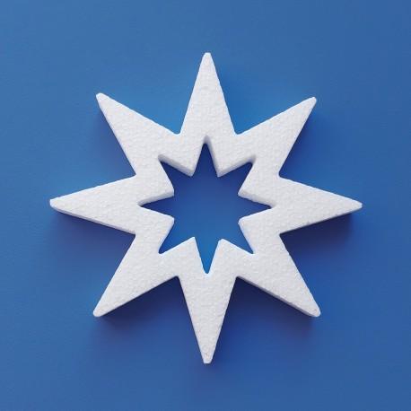 Lyukas csillag alakú hungarocell karácsonyfadísz ajtóra, ablakra!