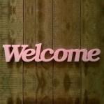 Welcome felirat XPS anyagból