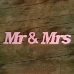 Mr & Mrs felirat XPS anyagból