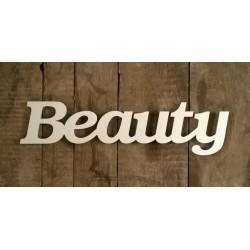 Beauty felirat faldekorációs célra