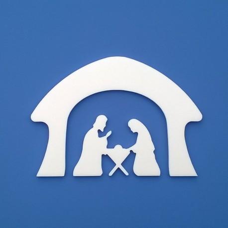 József, Mária és a kis Jézus.