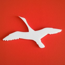 Repülő lúd alakú Depron anyagból készült festhető dekoráció