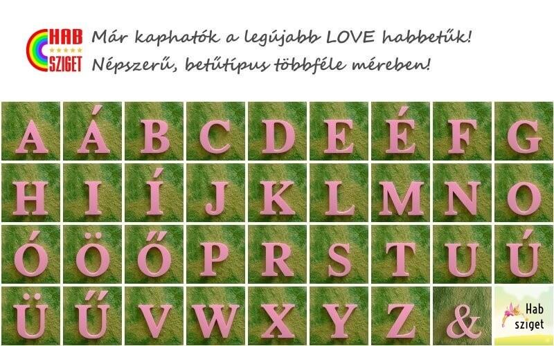 Már kapható a legújabb népszerű LOVE betűkészlet!